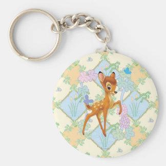Bambi Basic Round Button Keychain
