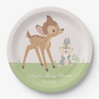 Bambi | Neutral Baby Shower 9 Inch Paper Plate