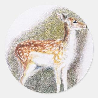 Bambi Round Sticker