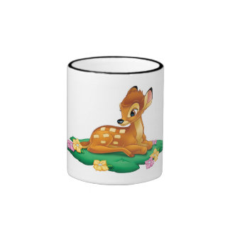 Bambi sitting on the grass coffee mugs