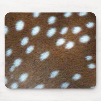 Bambi white dots on brown fur mouse pad