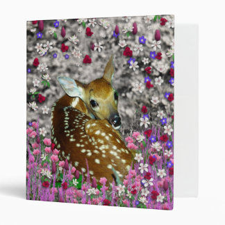 Bambina the Fawn in Flowers II Binder