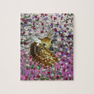 Bambina the Fawn in Flowers II Jigsaw Puzzle