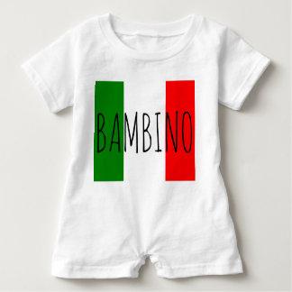 Bambino Baby Boy Italian Flag Last Name Romper
