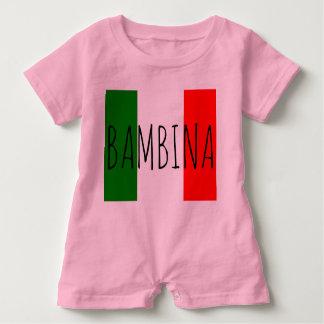 Bambino Baby Girl Italian Flag Last Name Romper