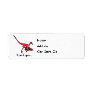 Bambiraptor Custom Return Address Labels