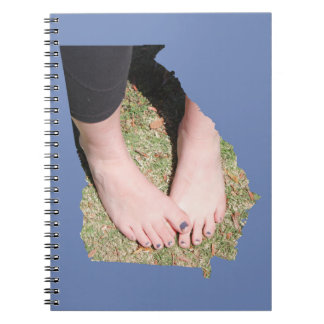 Bambi's Graceful Feet GA State Outline Notebook