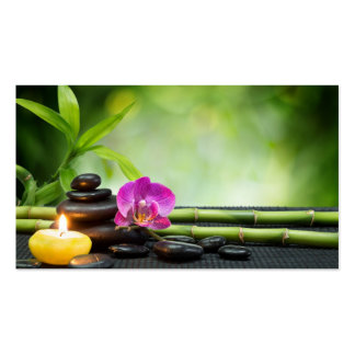 Bamboo and Candle Therapy Business Cards