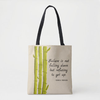 Bamboo And Chinese Proverb Tote Bag