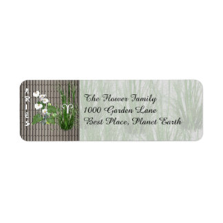 Bamboo and Lily Aries Return Address Label