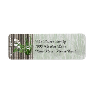 Bamboo and Lily Cancer Return Address Label
