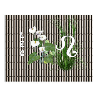 Bamboo and Lily Leo Postcard