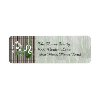 Bamboo and Lily Leo Return Address Label
