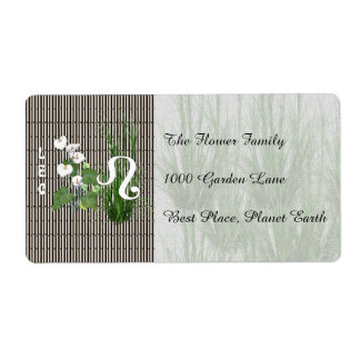 Bamboo and Lily Leo Shipping Label