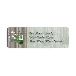 Bamboo and Lily Libra Return Address Label
