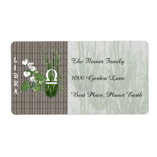 Bamboo and Lily Libra Shipping Label