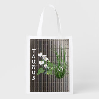 Bamboo and Lily Taurus Reusable Grocery Bag