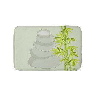 Bamboo and zen stones bath mat