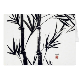 bamboo art notecard