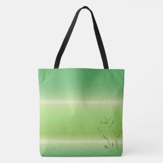 bamboo asanas spring green tote bag