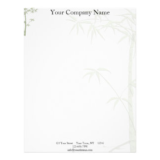 Bamboo Beauty Letterhead Template