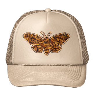 Bamboo Borer Moth Life Cycle Silhouette Trucker Hat