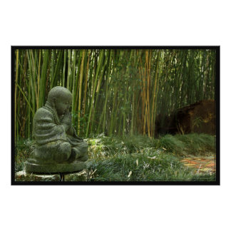Bamboo Buddha Poster -60x40 -other sizes available