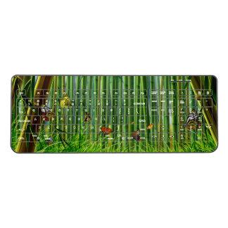 Bamboo & Butterfly Art 1 Wireless Keyboard