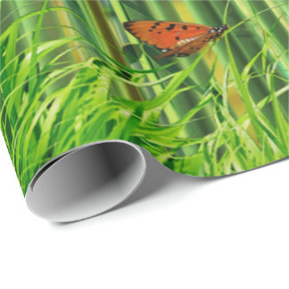Bamboo & Butterfly Art 1 Wrapping Paper