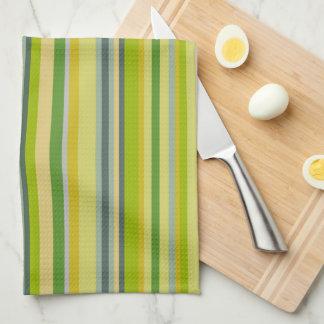 Bamboo Colors Multi-Stripe Pattern Kitchen Towel