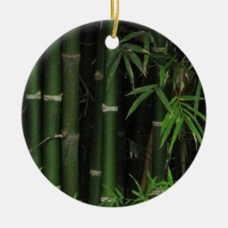 Bamboo ... Fao Rai, Nong Khai, Isaan, Thailand Round Ceramic Ornament