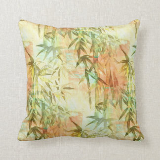 Bamboo Forest Painting Throw Pillow