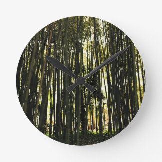 Bamboo Forest Round Clock