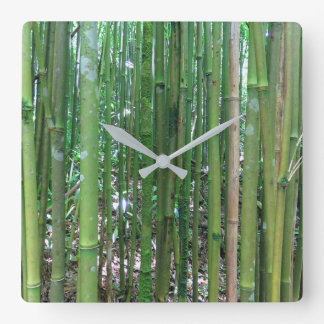 Bamboo Forest Square Wall Clock