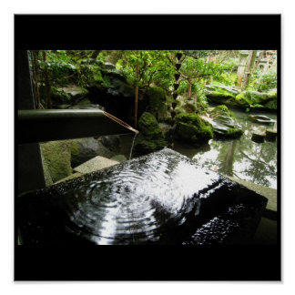 Bamboo Fountain, Images from Japan Poster