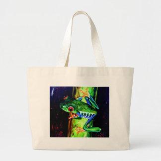 Bamboo Frog Jumbo Tote Bag