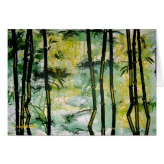 Bamboo Garden Card (blank inside)