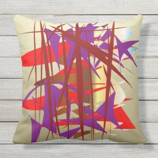 Bamboo Garden Throw Pillow