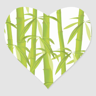 Bamboo Heart Sticker