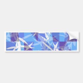 Bamboo in Blue Geometric Pattern Bumper Sticker