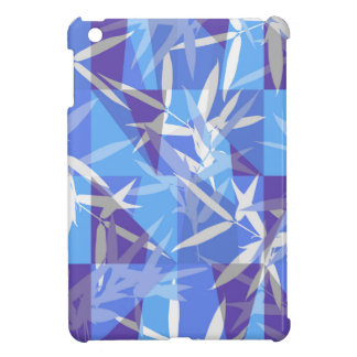 Bamboo in Blue Geometric Pattern Cover For The iPad Mini