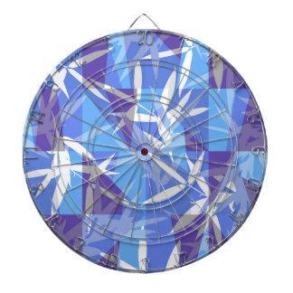 Bamboo in Blue Geometric Pattern Dartboard