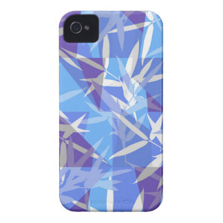 Bamboo in Blue Geometric Pattern iPhone 4 Cover