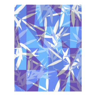Bamboo in Blue Geometric Pattern Letterhead