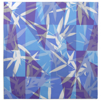 Bamboo in Blue Geometric Pattern Napkin
