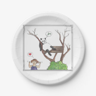 Bamboo love 7 inch paper plate