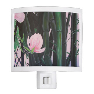 Bamboo magnolias - night light