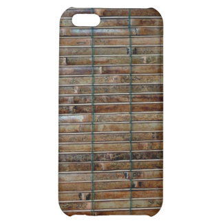 bamboo mat background iPhone 5C cases