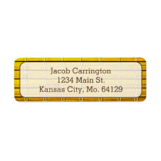 Bamboo Mat Return Address Label