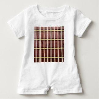 bamboo mat texture baby romper